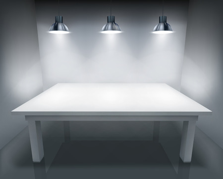 illuminated wall: Illuminated table. Vector illustration. Illustration