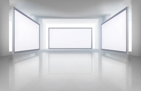 pokoj: Obrázky v galerii. Vektorové ilustrace.