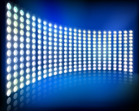 projection screen: Big LED projection screen. Vector illustration.