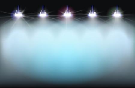 illuminated: Illuminated wall. Vector illustration.