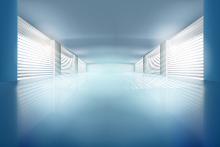 empty office: Illustration of empty hall. Vector illustration. Illustration