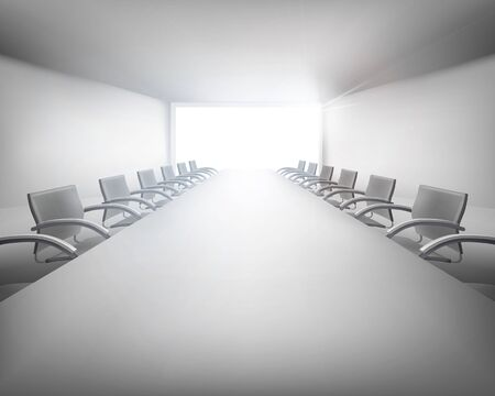 empty chair: Meeting room. Vector illustration.
