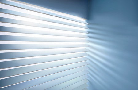 window: Window with blinds. Vector illustration.
