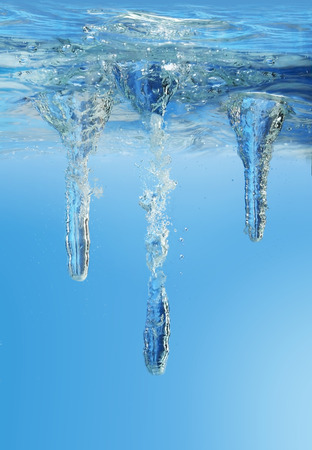 sea bottom: Underwater scenery. Vector illustration.