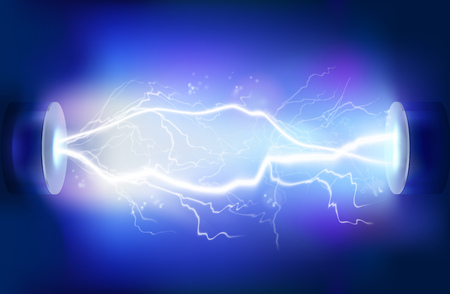 connexion: Décharge d'électricité. Vector illustration.