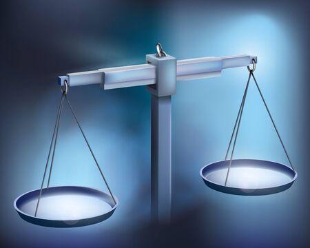 balance: Balance. Vector illustration.