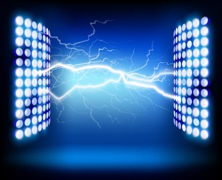 電気的インパルス。ベクトルの図。