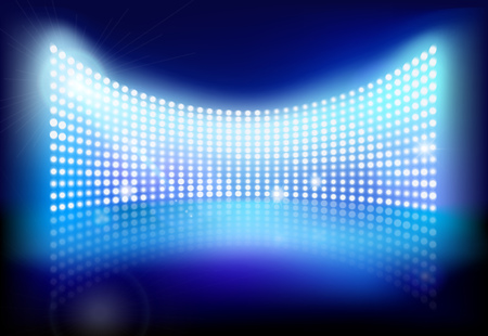 movie screen: Big led screen. Vector illustration.