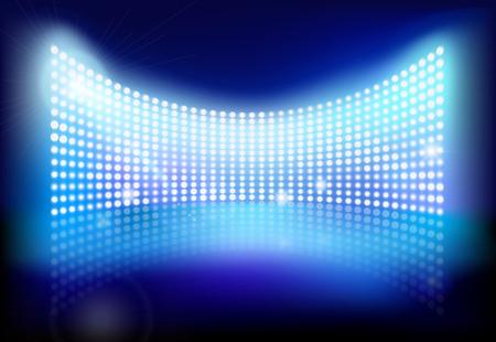 Grote LED-scherm. Vector illustratie.