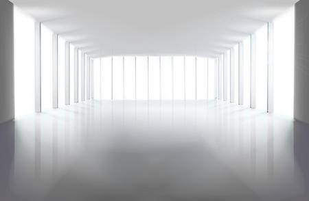 Lege grote zaal. Vector illustratie.
