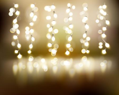 christmas garland: Light strings. Vector illustration.