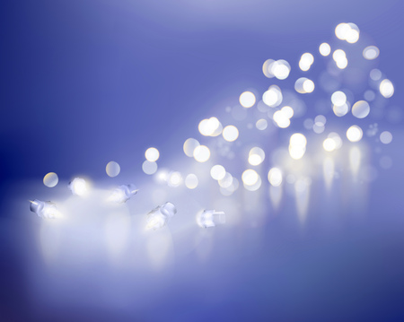 vectors: Blue lights. Vector illustration.