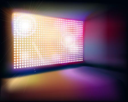 Projectiescherm. Vector illustratie. Stock Illustratie