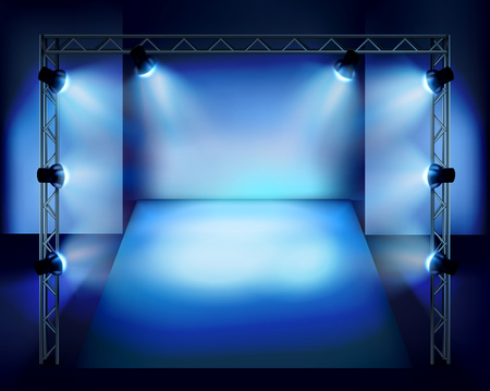 Show in the stage.