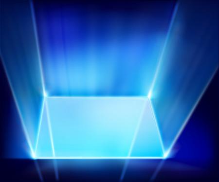 floodlight: Virtual screen. Vector illustration. Illustration