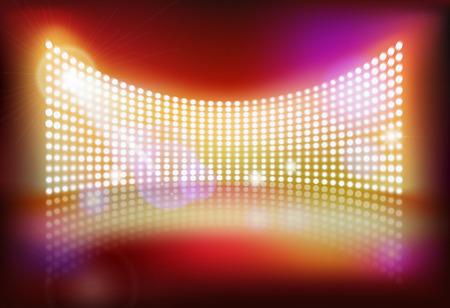 Big led screen. Vector illustration.