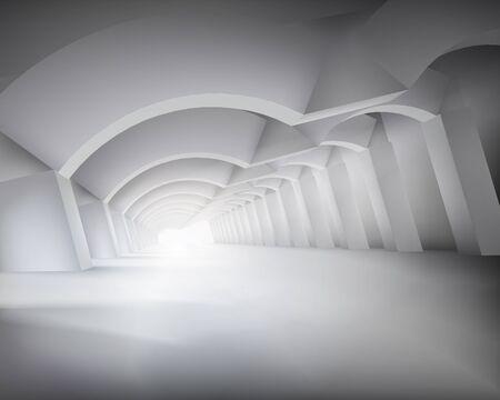 passage: Long passage. Vector illustration.