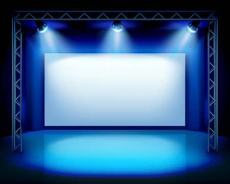 Empty stage show  イラスト・ベクター素材