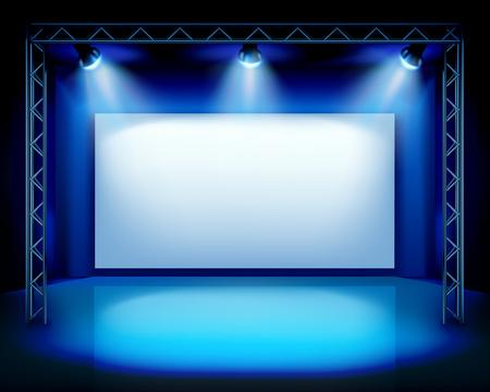 Empty stage show Vettoriali
