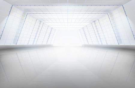 Hall, grote ruimte. Vector illustratie.