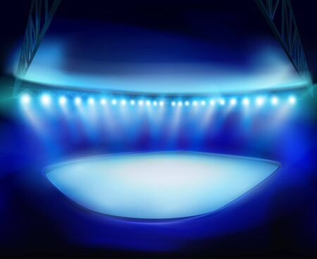illuminated: Illuminated Stadium Illustration