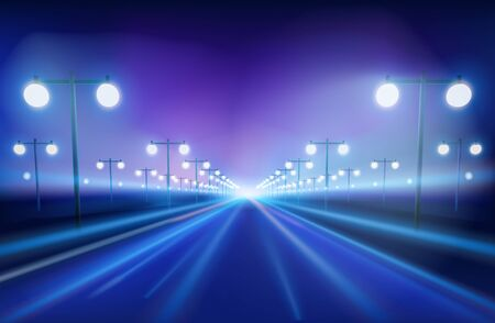ave: The avenue in the night Illustration