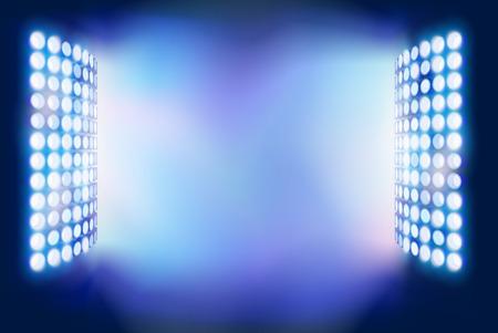 floodlights: Stadium Floodlights.  illustration.