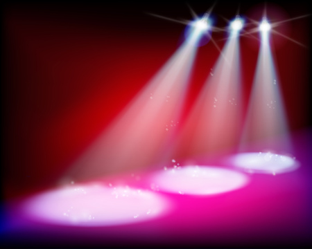 illuminated: Illuminated stage before the concert illustration.