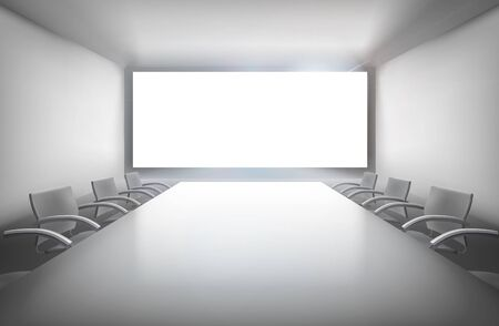 projection: Conference room illustration.