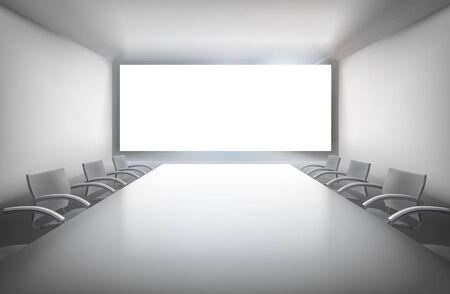 Ilustración sala de conferencias.