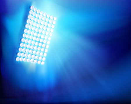 The stadium floodlights.