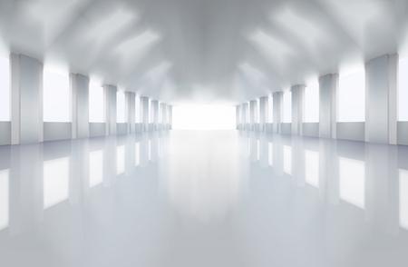 Grote fabrieksvloer Vector Illustratie