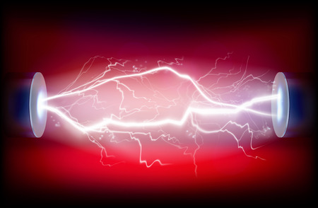 Electric discharge illustration.