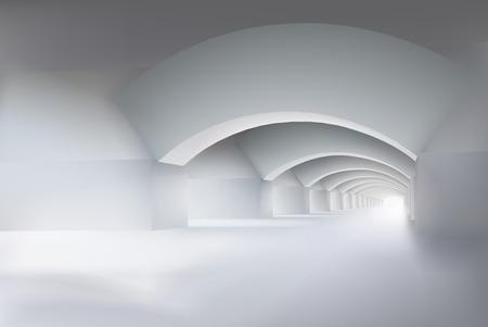 empty interior: Large empty interior illustration.
