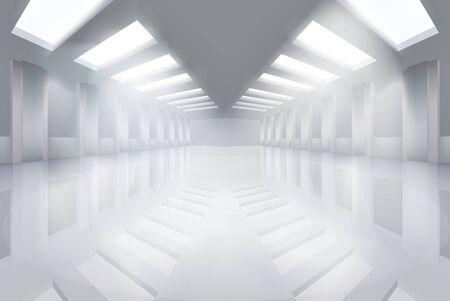 Large empty hall illustration.