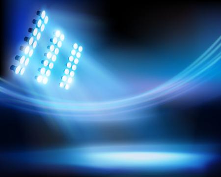 Stadium night. Vector illustration.