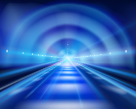 运输: 長的隧道。矢量插圖。