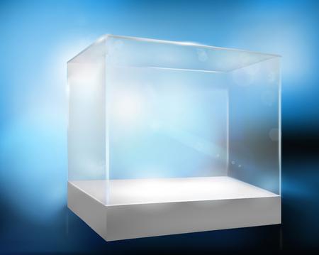 display case: Empty display case. Vector illustration.