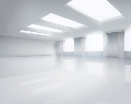 Large empty room. Vector illustration. Illusztráció