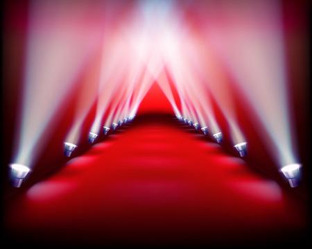 iluminado: Demostración del cauce. Ilustración del vector.