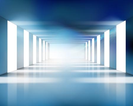 Large empty hall. Vector illustration. Illustration
