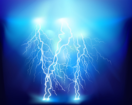 Thunderstorm. Vector illustration.