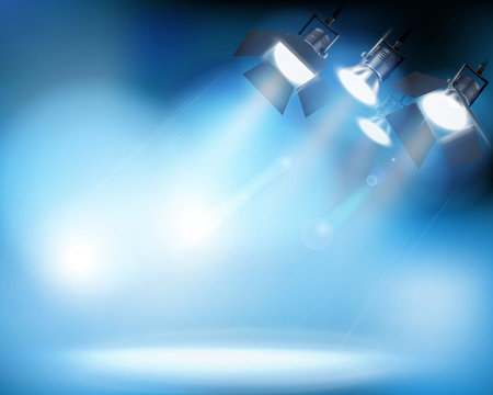 スポット ライト。ベクトルの図。  イラスト・ベクター素材