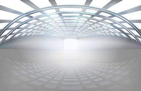 glass ceiling: Empty hall, large space. Vector illustration. Illustration