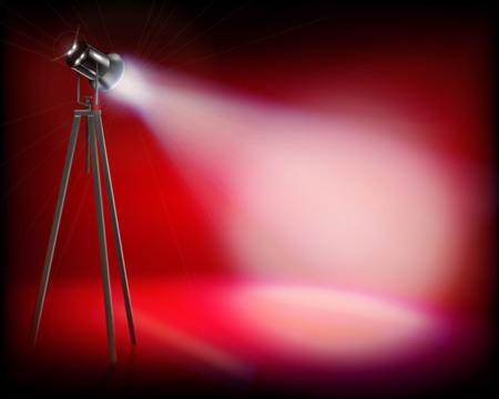 Spotlight on the stage. Vector illustration.