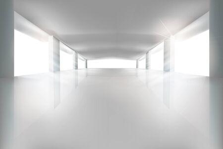huge: Large room. Vector illustration. Illustration