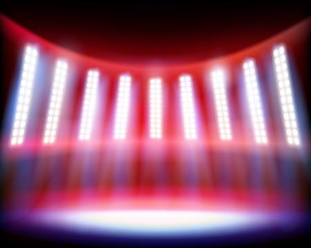 Stadium lighting. Vector illustration.