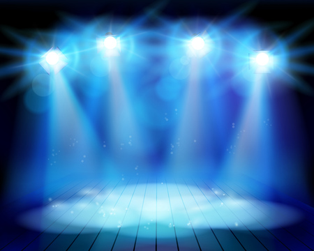 The theatrical performance on stage. Vector illustration. Illustration
