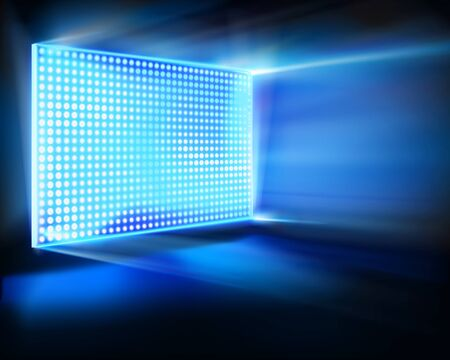 screen: Virtual LED projection screen. Vector illustration.