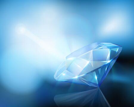 Large diamond. Vector illustration.